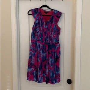 Banana Republic Pink and Blue Floral Dress